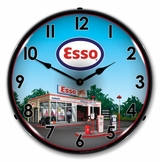 Lighted Esso Station Clock