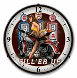 LED Lighted Fill er Up Clock