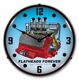 Lighted Flathead V8 Clock