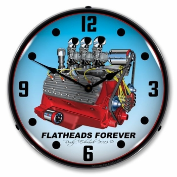 LED Lighted Flathead V8 Clock