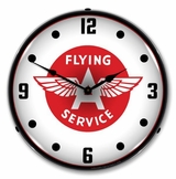 LED Lighted Flying A Service Clock