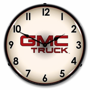 LED Lighted GMC Truck Clock