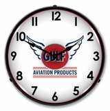 LED Lighted Gulf Avaition Clock