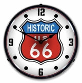 Lighted Historic Route 66 Clock