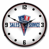 LED Lighted Hudson Sales and Service Clock