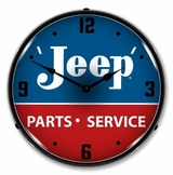 LED Lighted Jeep Parts and Service Clock