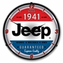 LED Lighted Jeep since 1941 Clock