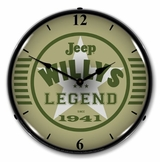 LED Lighted Jeep the Legend Clock