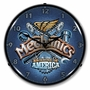 Lighted Mechanics USA Clock