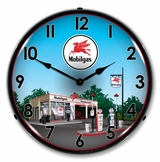 Lighted Mobil Station Clock