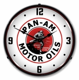 LED Lighted Pan Am Motor Oils Clock