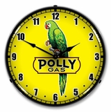 LED Lighted Polly Gas 2 Clock