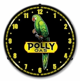 LED Lighted Polly Gas Clock