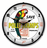 Lighted Polly Stamps Clock
