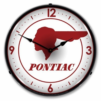 LED Lighted Pontiac Indian Clock