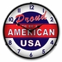 LED Lighted Proud to be American Clock