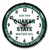 Lighted Quaker State Oil Clock