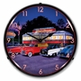 LED Lighted Red Arrow Diner Clock