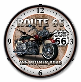 LED Lighted Route 66 Bike Clock