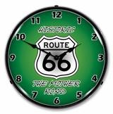 LED Lighted Route 66 The Mother Road Clock