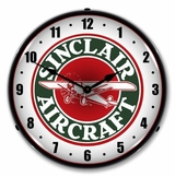 LED Lighted Sinclair Aircraft Clock