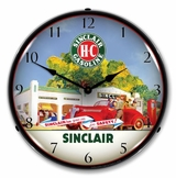 LED Lighted Sinclair Station Clock