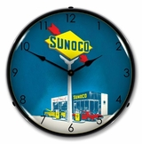 LED Lighted Sunoco Gas Clock