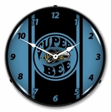 LED Lighted Super Bee Blue Clock