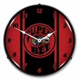 LED Lighted Super Bee  Red Clock