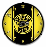 LED Lighted Super Bee Yellow Clock