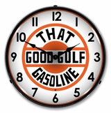 LED Lighted That Good Gulf Gasoline Clock