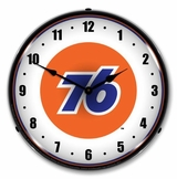 LED Lighted Union 76 Clock