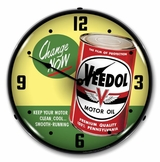 Lighted Veedol Change Oil Now Clock