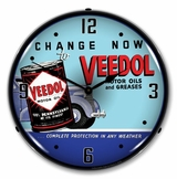 LED Lighted Veedol Oil and Grease Clock