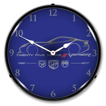 Lighted Viper 25 Years Clock