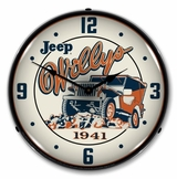 LED Lighted Willys on the Rocks Clock