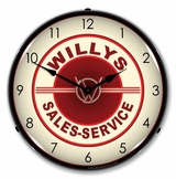 LED Lighted Willys Sales and Service Clock