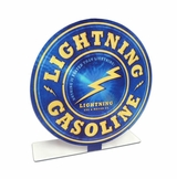 Lightening Gas Topper Metal Sign