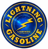 Lightning Gasoline Metal Sign