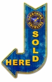 Lightning Sold Here Arriw Metal Sign