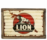 Lion Gasoline Metal Sign