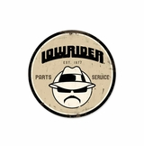 Lowrider Parts Service Metal Sign