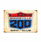 Lsa 200Mph Club Metal Sign