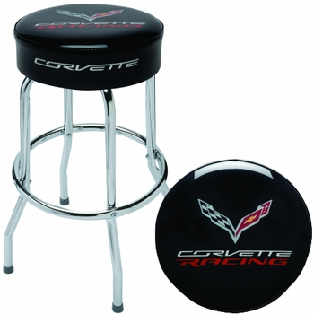 Made in the USA Corvette Racing Shop Stool