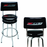 Made in the USA Z06 Corvette Shop Stool with Logo Back