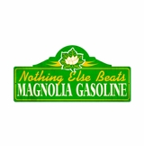 Magnolia Gas Metal Sign
