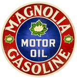 Magnolia Motor Oil Metal Sign