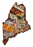 Maine License Plates Metal Sign