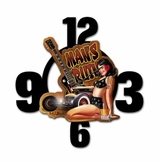 Mans Ruin Layered Metal Clock