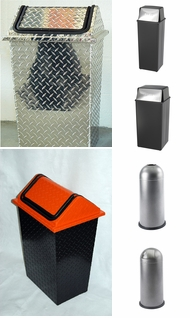 Items in Metal Garbage Cans